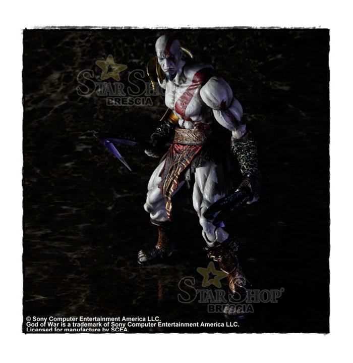 God of war 3 kratos play arts kai action figure square for Soluzione giardini superiori god war 3