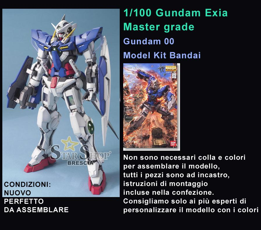 ACTION FIGURE MG GUNDAM EXIA 1//100 DA ASSEMBLARE BANDAI MODEL KIT