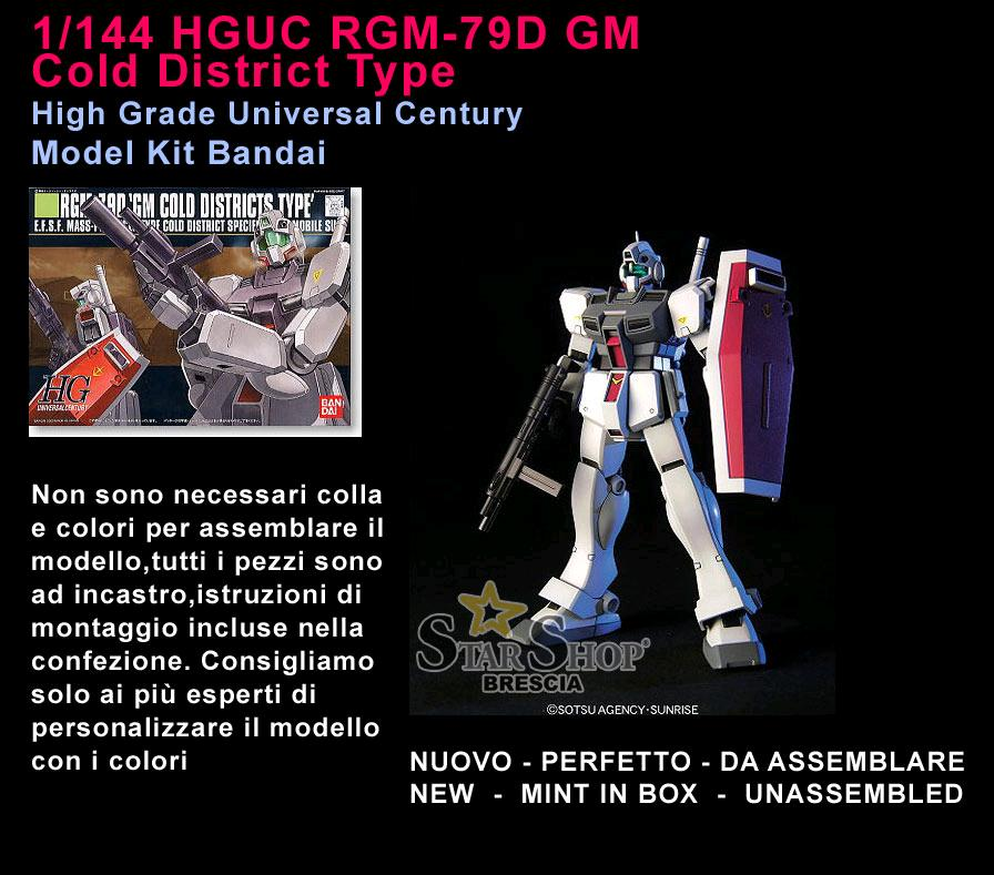 BANDAI HGUC 1//144 RGM-79D GM COLD DISTRICTS TYPE Plastic Model Kit Gundam 0080