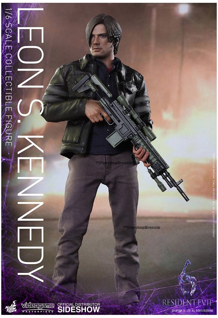 Resident Evil 6 Leon S Kennedy Videogame Masterpiece 1 6 Action Figure 12 Vgm22