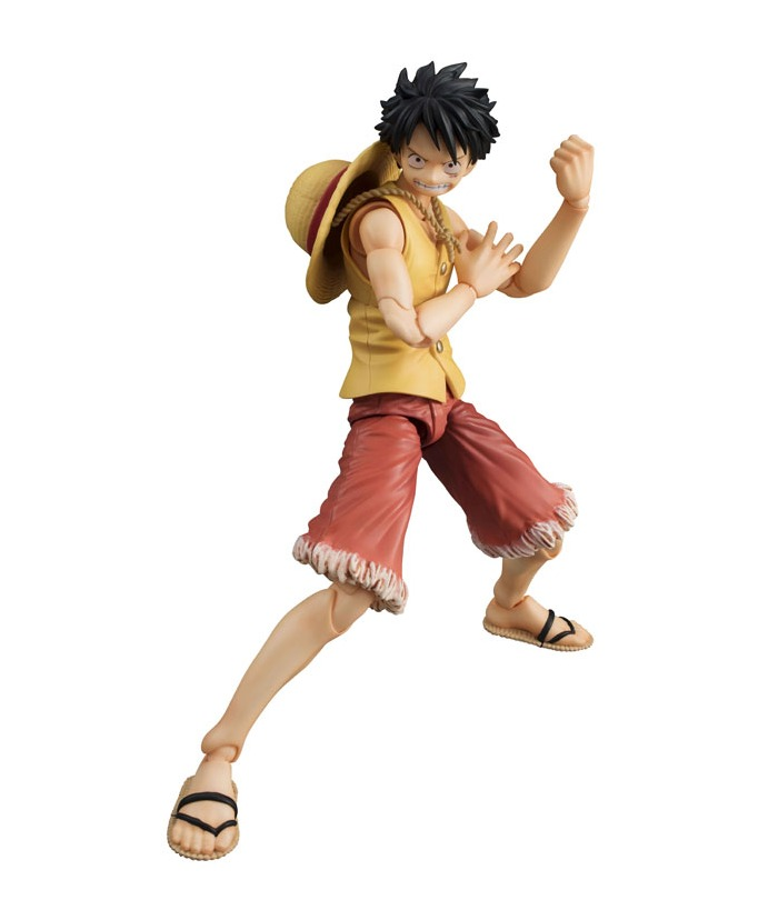 One Piece Variable Action Heroes Monkey D Luffy Past Blue Ver Yellow Action Figure