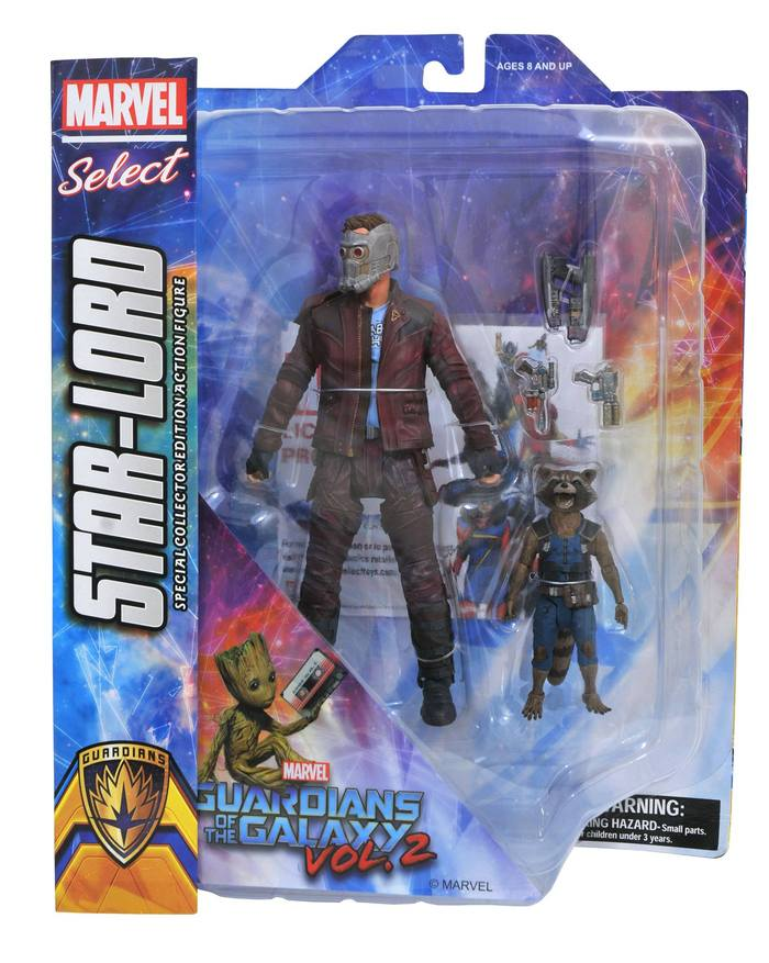 Marvel Select Guardians of the Galaxy 2 Star-Lord with Rocket Diamond Comics