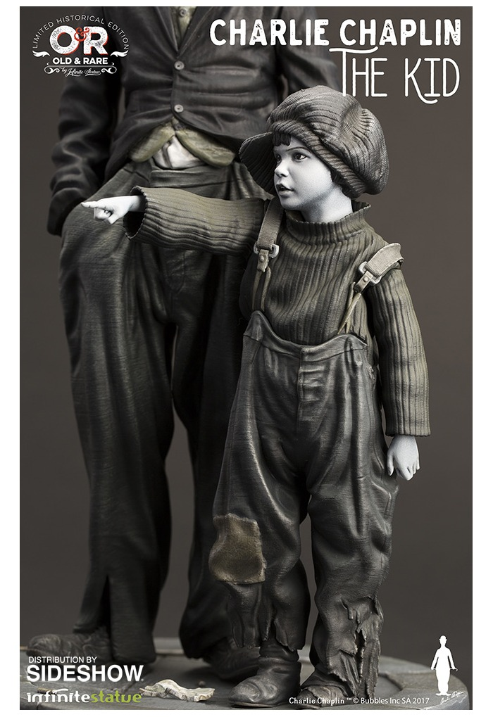CHARLIE CHAPLIN - The Kid Resin Statue