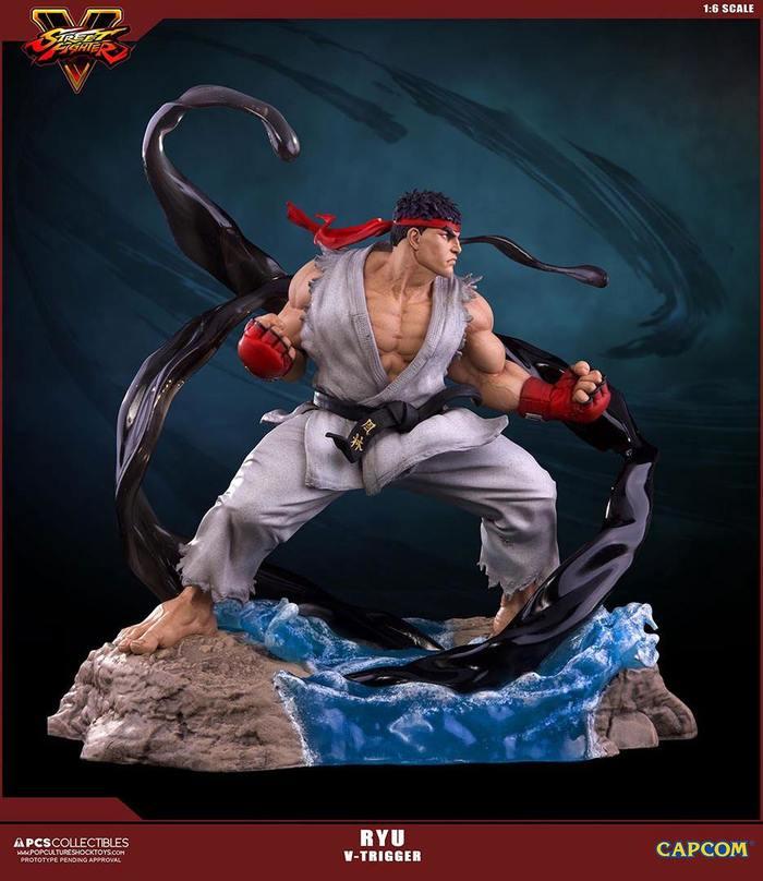 Street Fighter V Ryu V Trigger 1 6 Polystone Statue