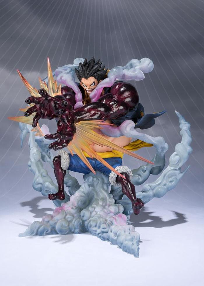 One Piece Figuarts Zero Monkey D Luffy Gear Fourth Leo Bazooka Static Figure