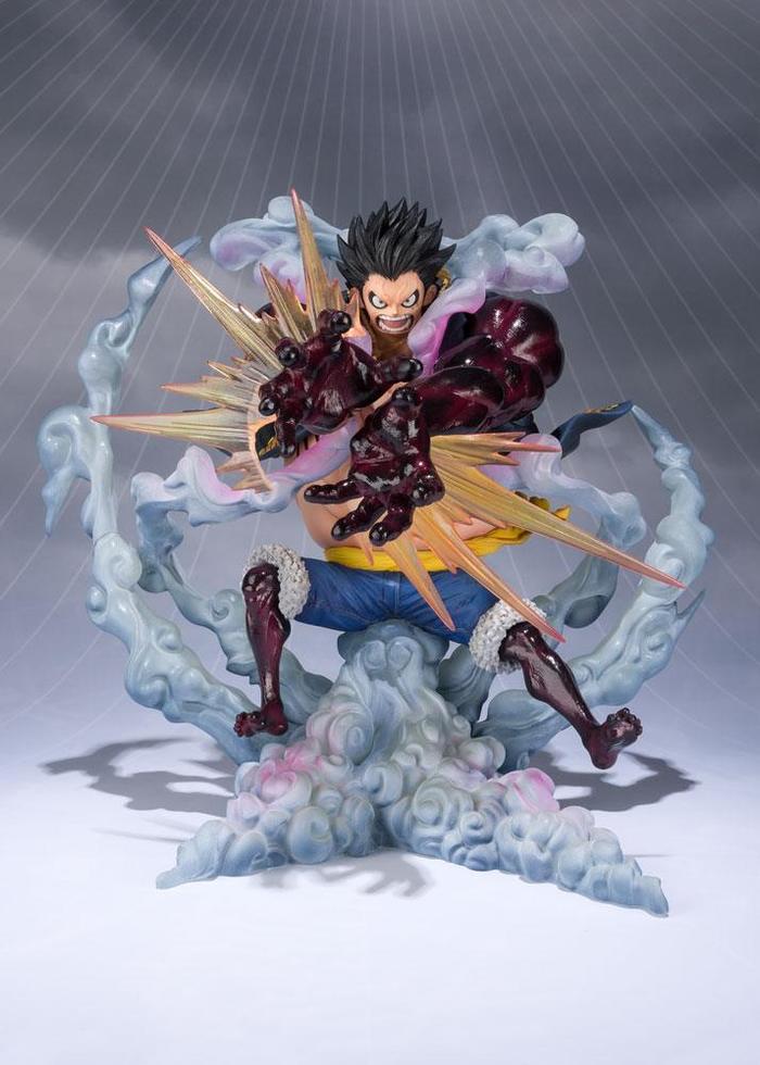 One Piece Figuarts Zero Monkey D Luffy Gear Fourth Leo Bazooka Static Figure