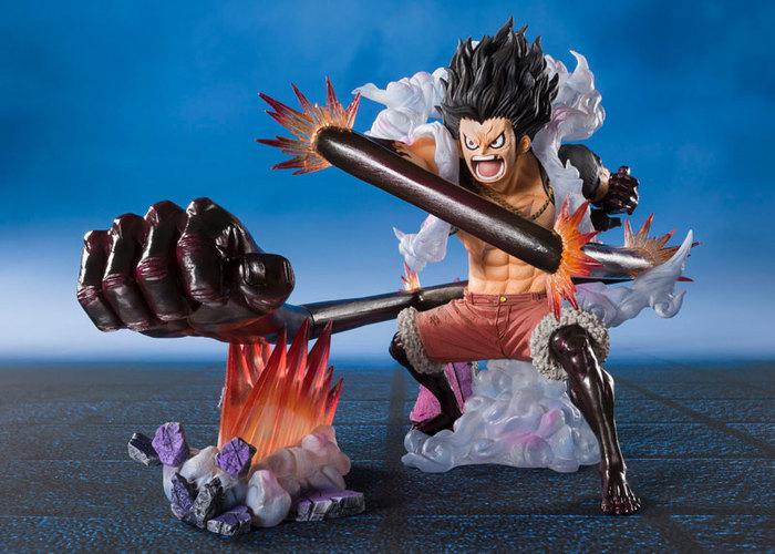 One Piece Figuarts Zero Monkey D Luffy Gear Fourth Snakeman King Cobra Static Figure