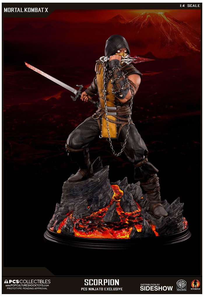 Mortal Kombat X Scorpion 1 4 Polystone Statue Exclusive Mortal